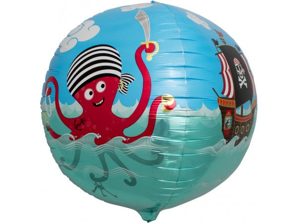 Pirate Sphere Helium Foil Balloon - 17""