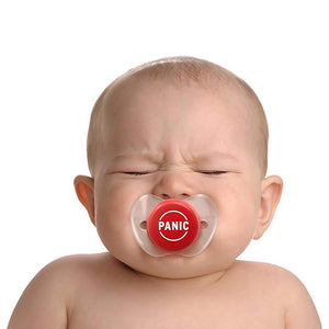 Chill, Baby Red Panic Button Pacifier