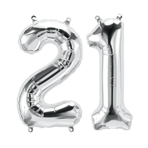 "34"" Number Helium Foil Balloon - Silver"