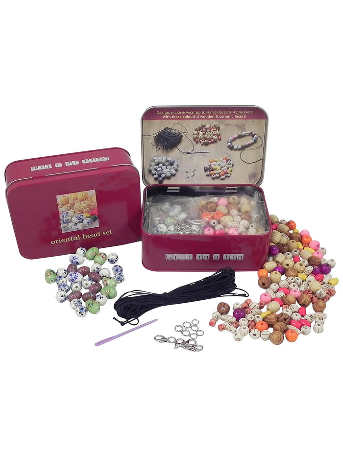 Gift In A  Tin - Oriental Bead Set