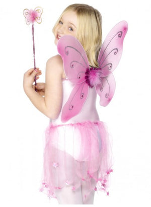 Pink Butterfly Wings & Wand