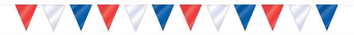 Red, White and Blue Bunting Banner - 32.8ft