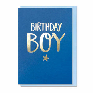 Birthday Boy - Card (Bright Blue)