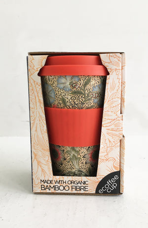 Ecoffee Cup + William Morris Corncockle 14oz