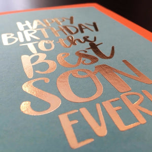 Happy Birthday To The Best Son - Card
