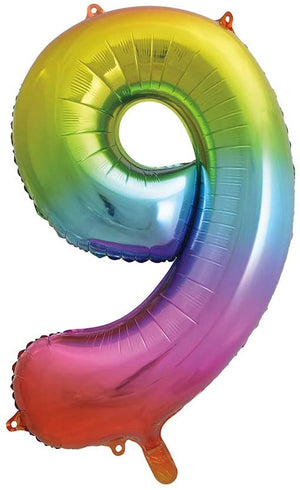 "34"" Number Helium Foil Balloon - Rainbow"