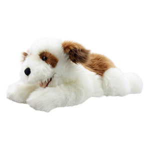 Brown & White Puppet - Playful Puppies