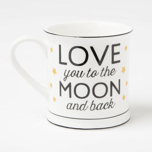 """Love You To The Moon And Back"" Golden Stars Mug"