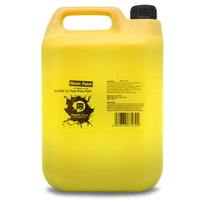 5 Litre UV Neon Body Splash Paint - Yellow