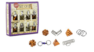 Great Minds: Wooden and Metal Puzzles Set of 8