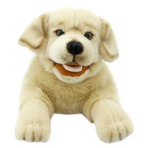 Playful Puppies Puppet - Yellow Labrador Dog
