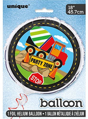 Construction Party Helium Foil Balloon - 18""