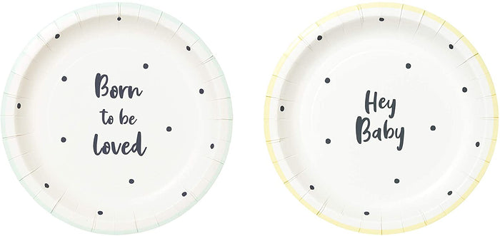 "New Baby Welcome ""Born To Be Loved"" Plate - 7 inch"