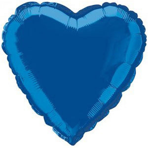 Royal Blue Heart Shaped Helium Foil Balloon - 18""