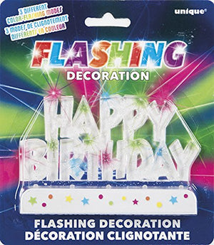 "Flashing ""Happy Birthday"" Cake Decorations"