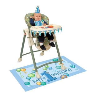 1st Birthday - Blue High Chair Kit