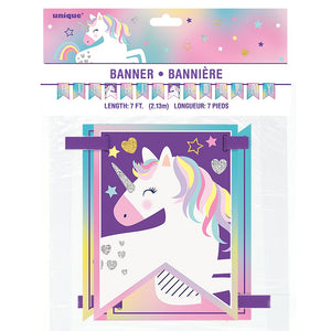 Unicorn Party Pennant Banner 7ft
