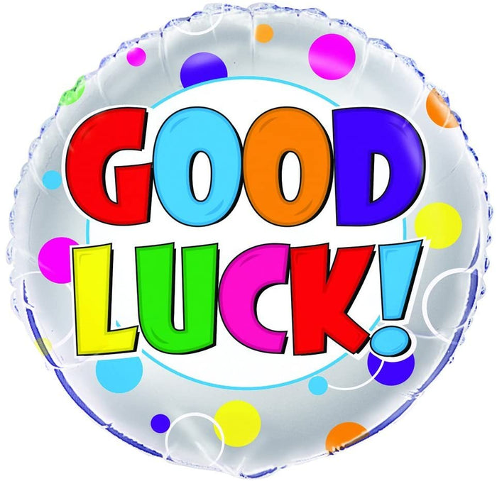 "Colourful ""Good Luck!"" Helium Foil Balloon - 18"""