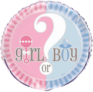 "Gender Reveal Party ""Girl or Boy?"" Helium Foil Balloon - 18"""