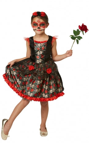 Red Rose Day Of The Dead Costume