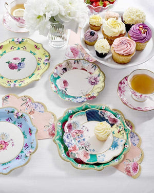 Truly Scrumptious Tea Party Vintage Floral Paper Plates - Small