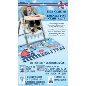 1st Birthday - Nautical High Chair Kit