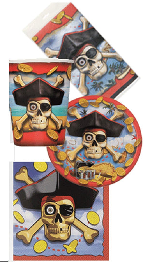 Pirate Bounty Party Pack - 8 Pieces