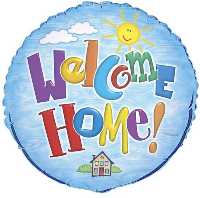 """Welcome Home!"" Helium Foil Balloon - 18"""