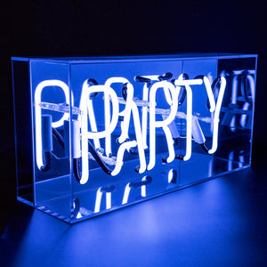 Acrylic Box Neon Blue - PARTY