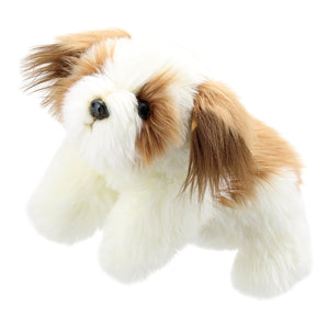 Brown & White Dog Puppet - Full Bodied