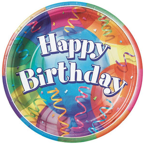 Brilliant Birthday Party Plate - 7 inch