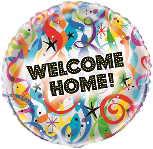 "Bright ""Welcome Home"" Helium Foil Balloon - 18"""