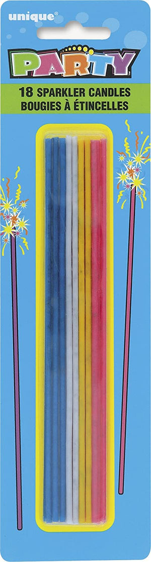 Candle Sparkler Sticks - Assorted Pack of 18