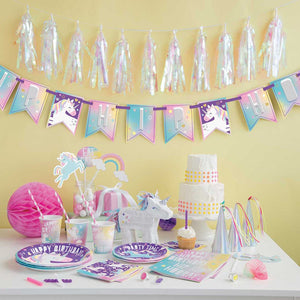 Unicorn Party Bunting Banner - 7ft