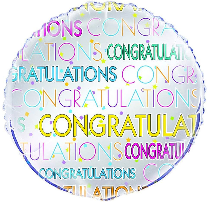 "Bright Star ""Congratulations"" Helium Foil Balloon - 18"""