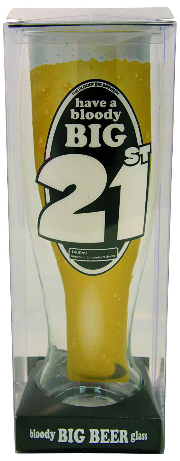Big Beer Glass: 21st