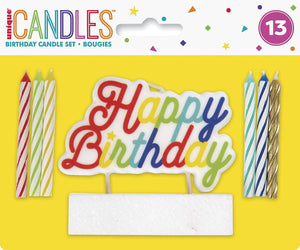 Large Happy Pick Spiral Birthday Candles - Pack of 12
