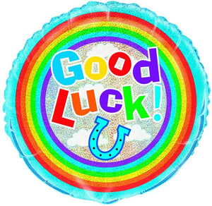 "Prism ""Good Luck!"" Helium Foil Balloon - 18"""