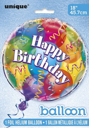"Brilliant Birthday Party ""Happy Birthday"" Helium Foil Balloon - 18"""
