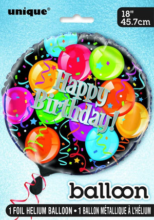 "Bravo Birthday ""Happy Birthday"" Helium Foil Balloon - 18"""