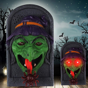 Witch Doorbell With Moving Tongue