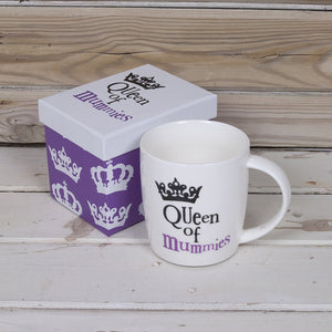 """Queen Of Mummies"" Mugs"