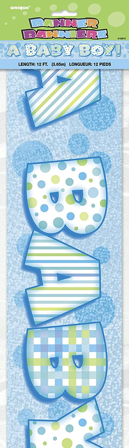 """A Baby Boy!"" Shower Banner - 12ft"