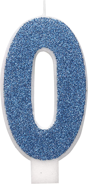 Glitz Blue Number Birthday Candles