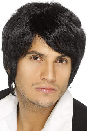 Boy Band Wig - Black