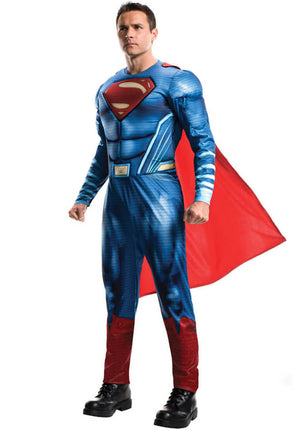 Deluxe Superman Costume - (Adult)