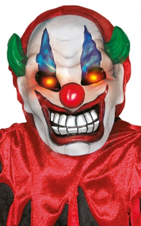 Crazy Clown with Light Up Strobe