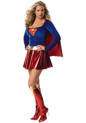 Supergirl One Piece Costume - (Adult)