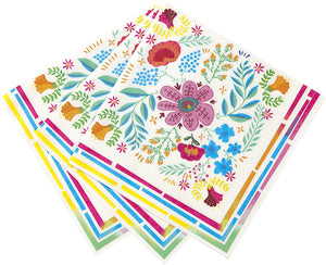 Bohemian Decor Floral Napkins