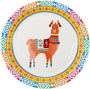 Bohemian Decor Llama Party Plate - 9 inch